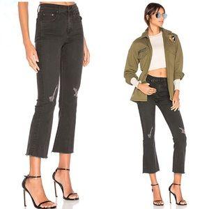 Rag & Bone 10 inch crop flare jeans black 24